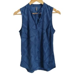 3/30$ ROYAL ROBBINS Blue & Abstract Sport Top